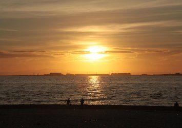 夕暮れの大阪湾 大阪の風景