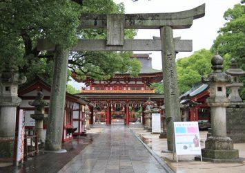 雨上がりの太宰府天満宮 福岡の風景
