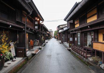飛騨高山の古い町並み 岐阜の風景