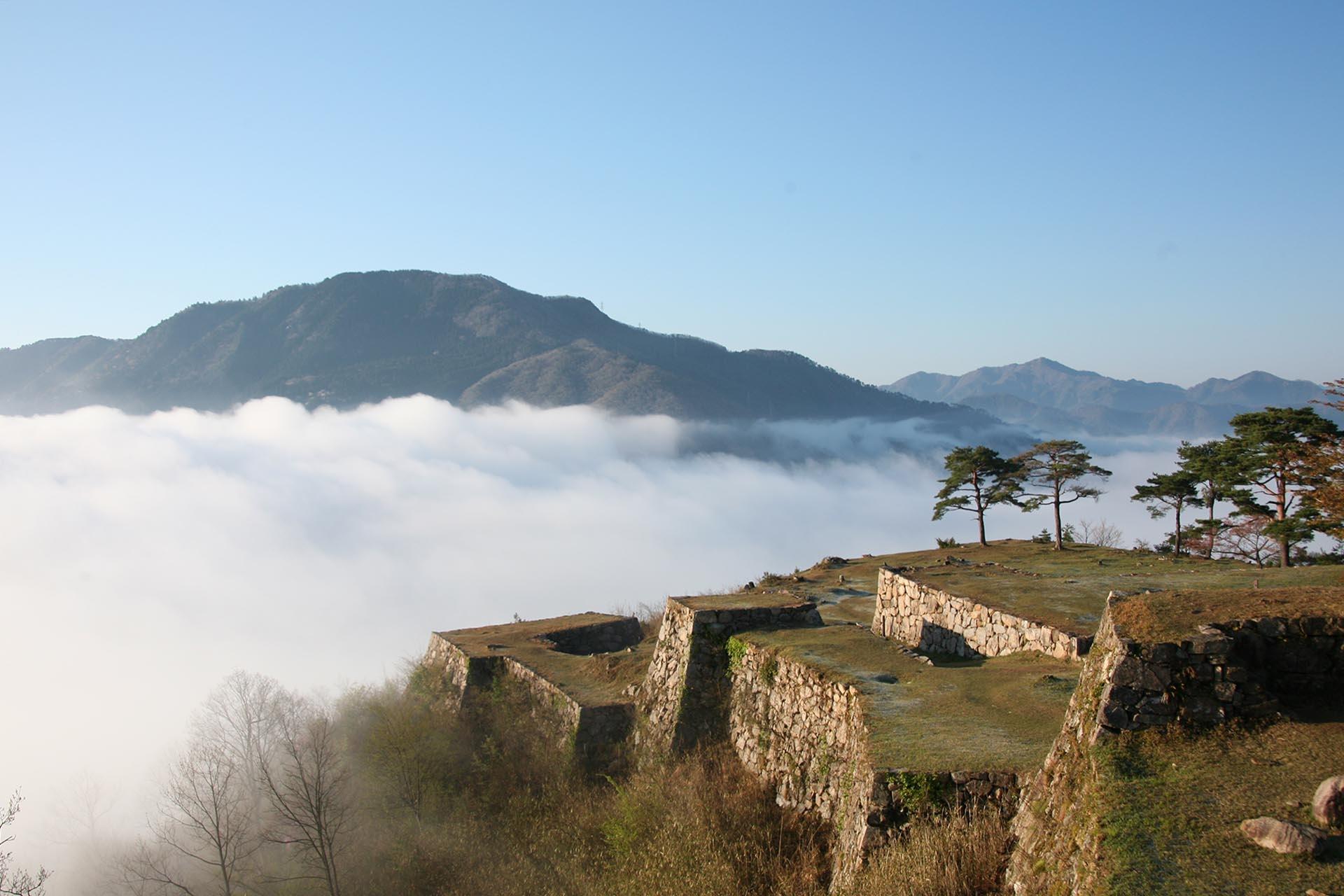 竹田城と雲海 兵庫の風景