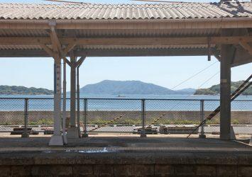 海の見える駅「大畠駅」 山口の風景