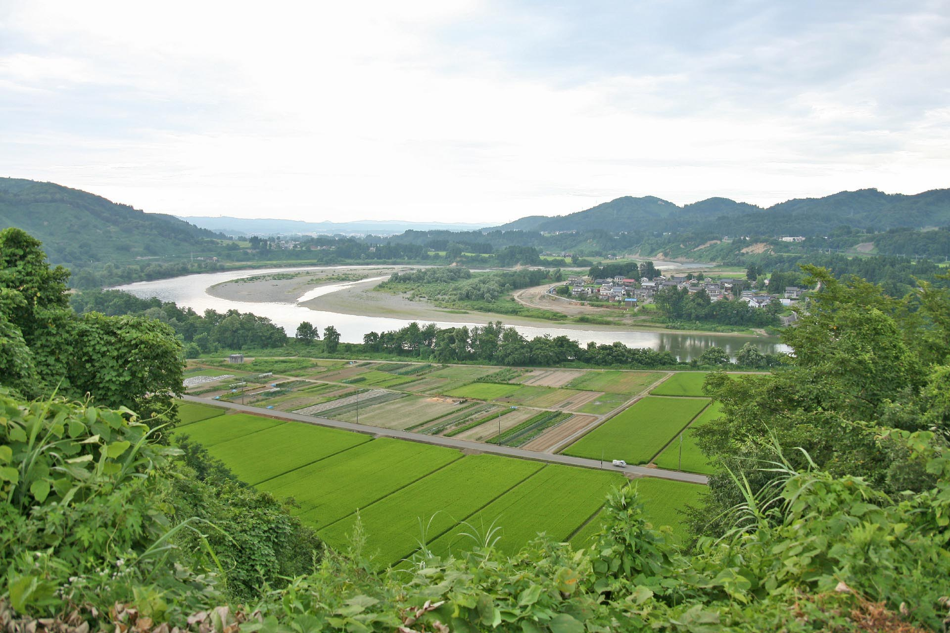 越後川口の夏の風景 新潟の風景