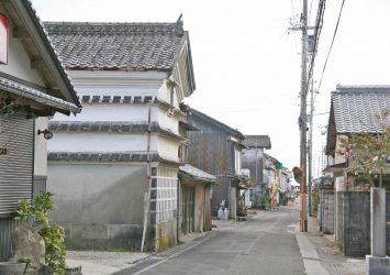 奈半利の伝統的な古い町並み 高知の風景