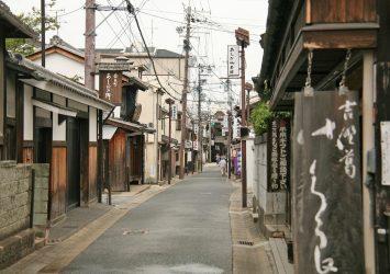 夏の奈良の町並み 奈良の風景
