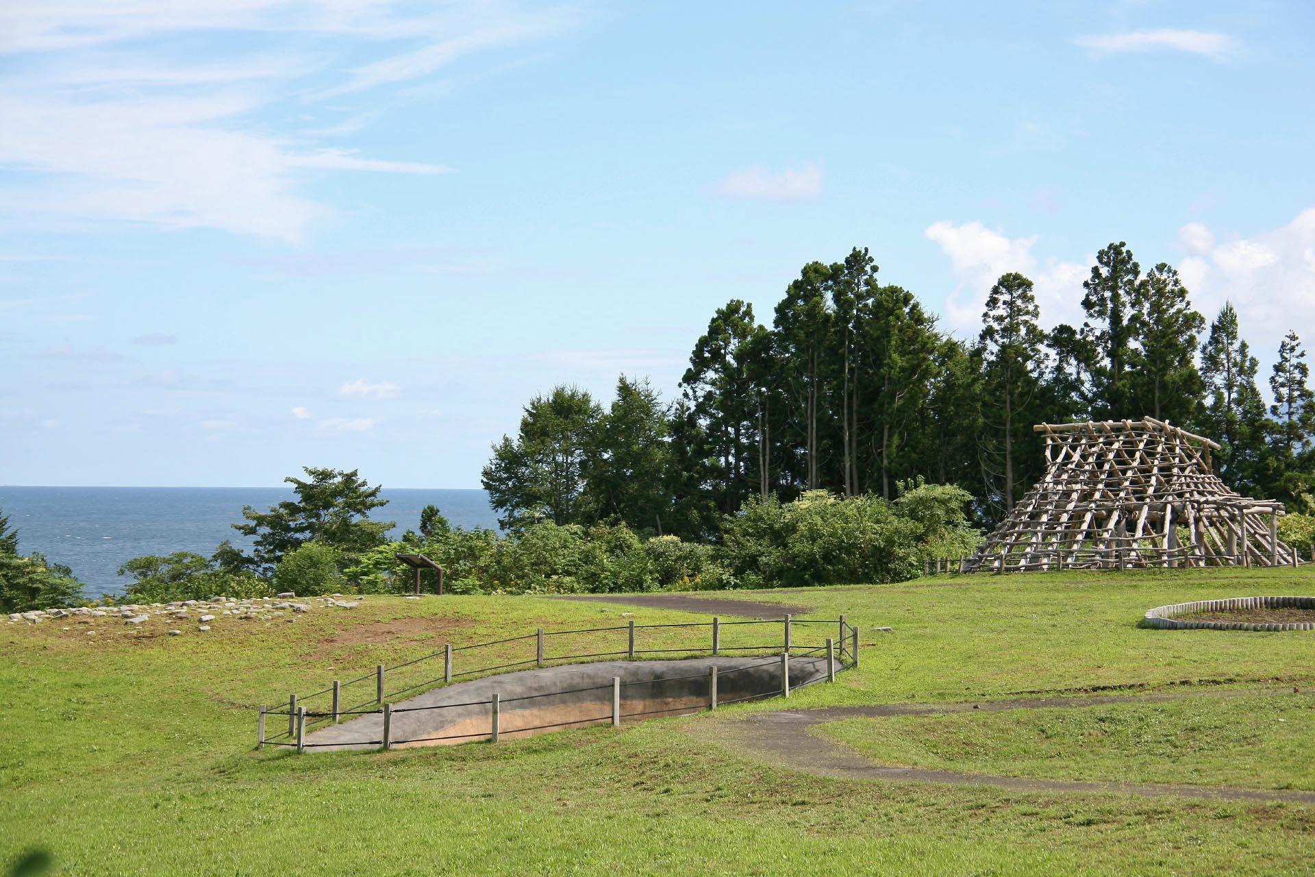 大船遺跡 北海道の風景