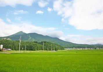 夏の磐梯山 会津若松 福島の風景