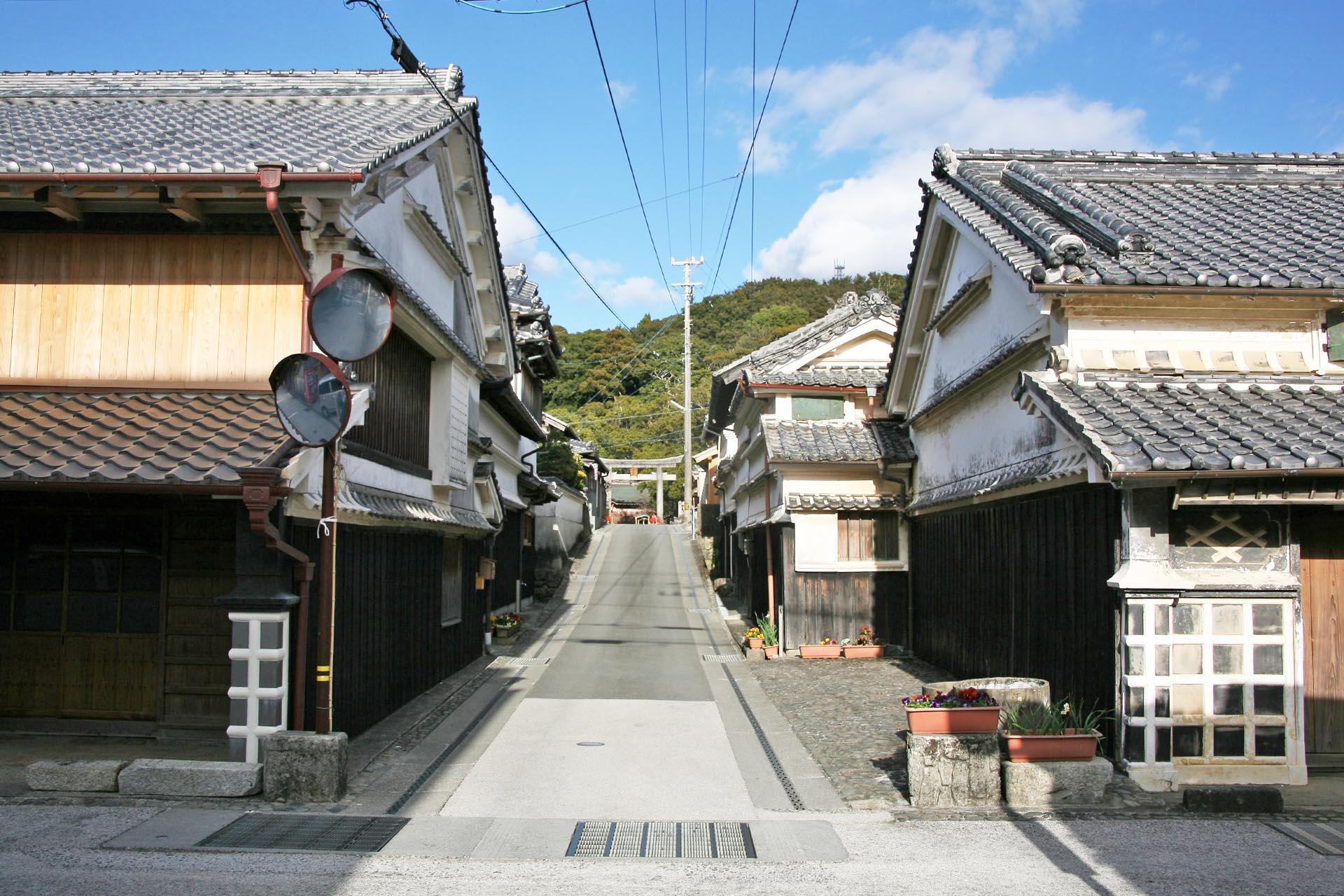 吉良川の伝統的な町並み 高知の風景
