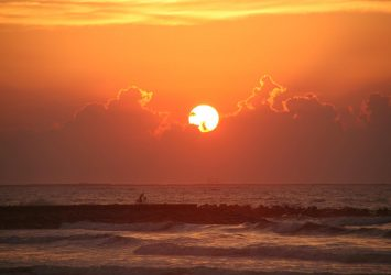 九十九里浜の朝 千葉の風景