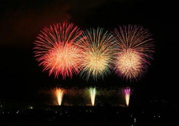赤川花火大会 山形の風景