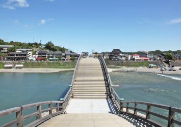 錦帯橋から見る風景 山口の風景