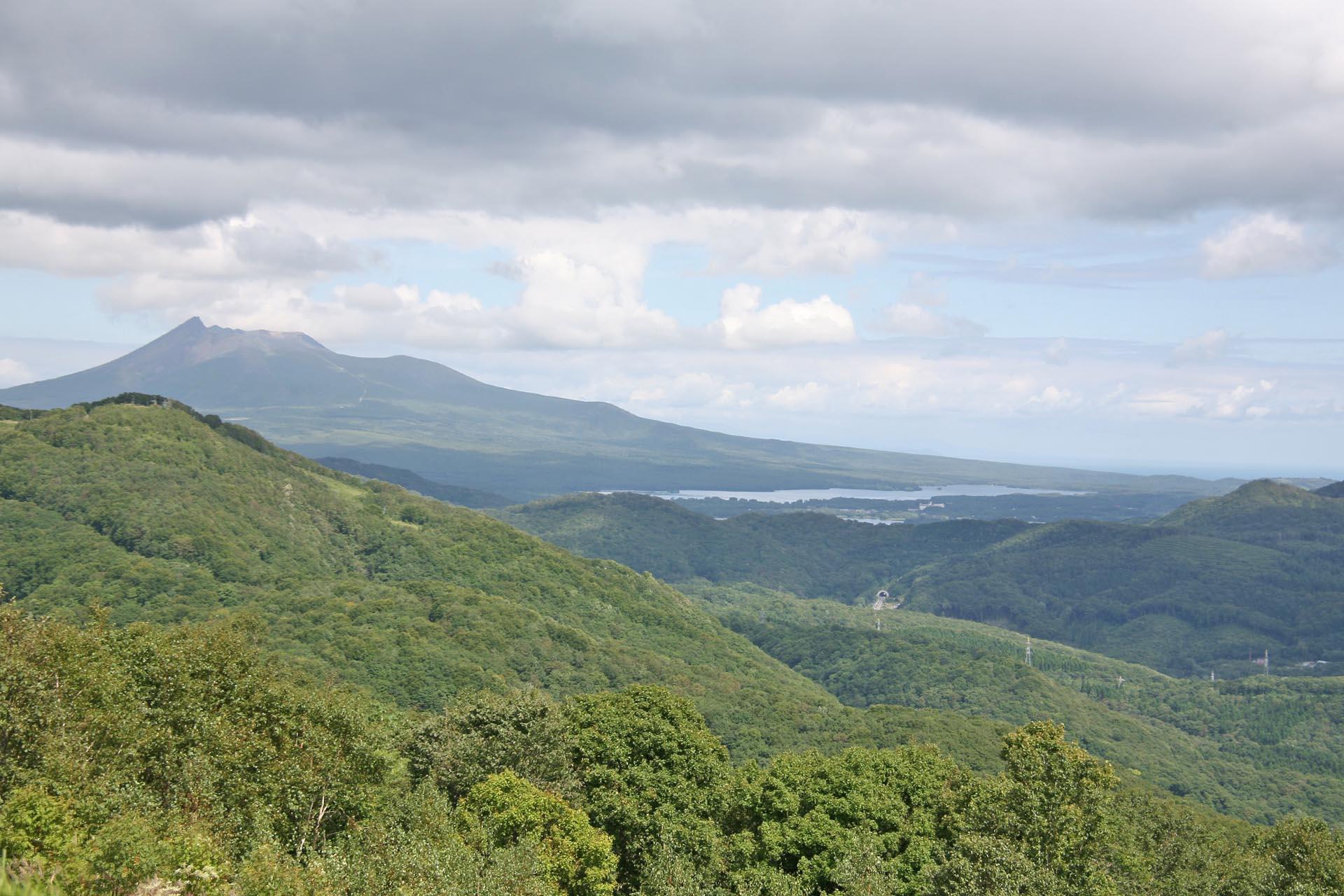 きじひき高原から見る駒ヶ岳と大沼 北海道の風景