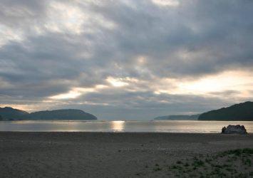 早朝の三陸海岸 岩手の風景