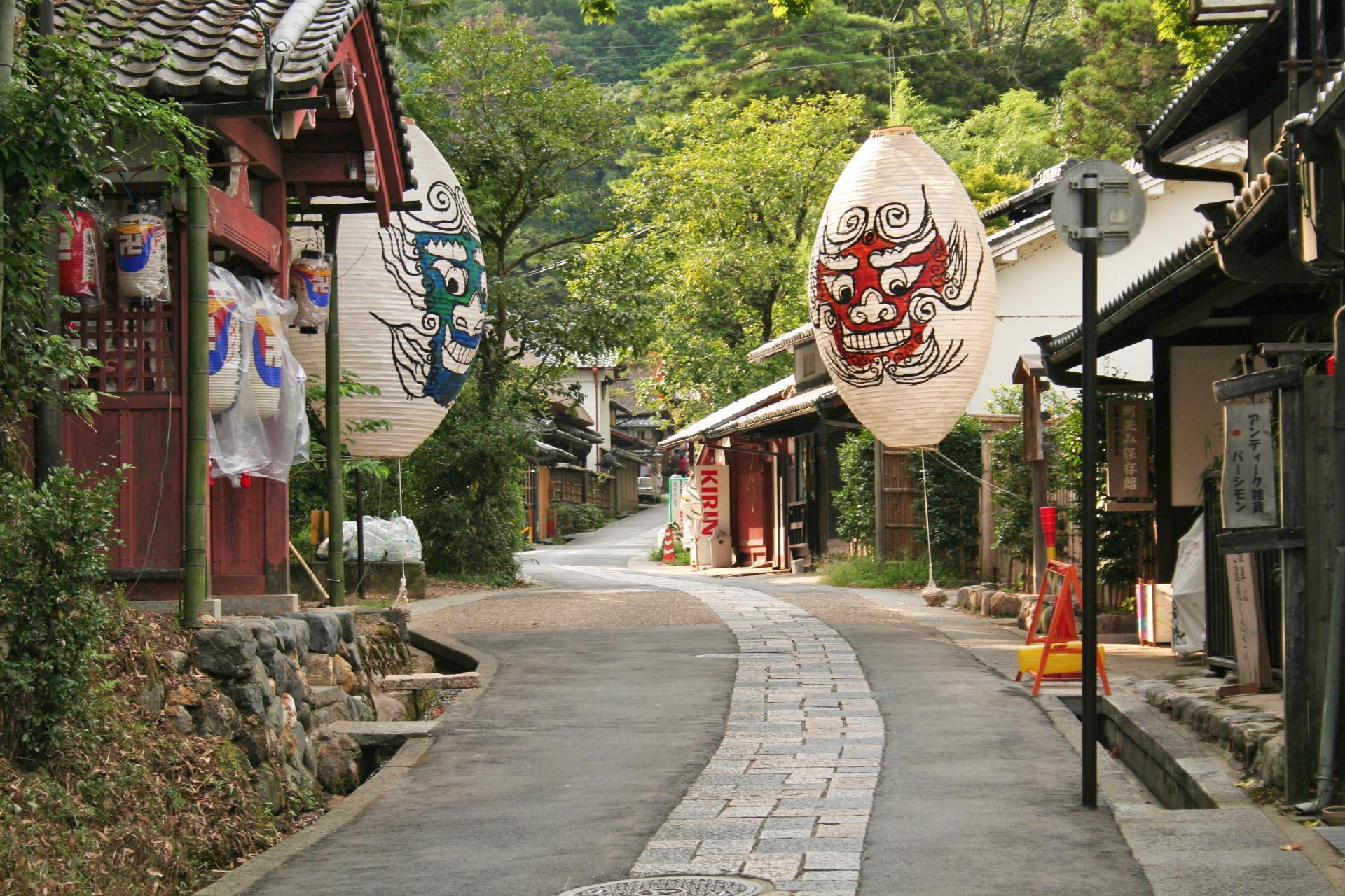 夏の京都 嵯峨鳥居本 京都の風景