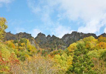秋の戸隠山 長野の秋の風景