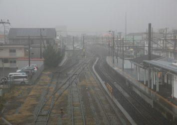雨の館山駅 千葉の風景